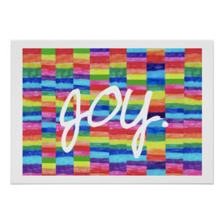 Joy Rainbow Art Print