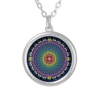 Joy Rainbow Flower Mandala Necklace