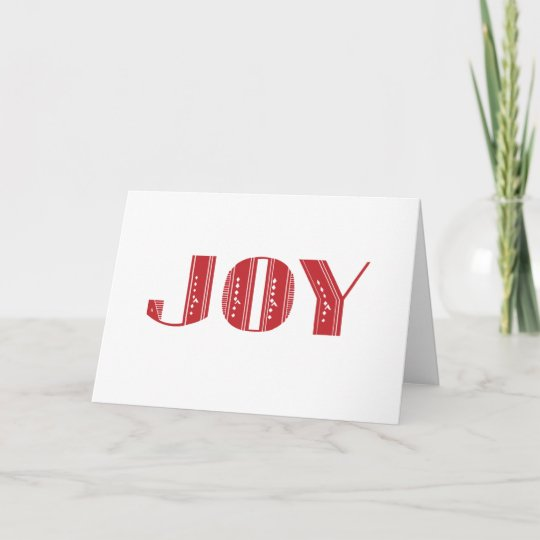 Joy red art deco holiday greeting card zazzle joy red art deco holiday greeting card m4hsunfo