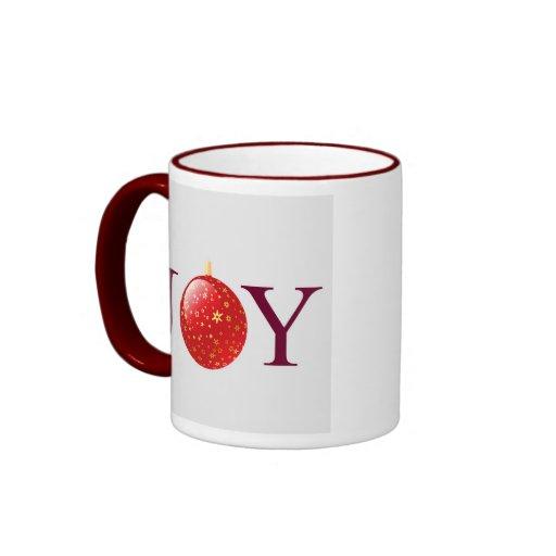Joy Red Christmas Decoration Mug