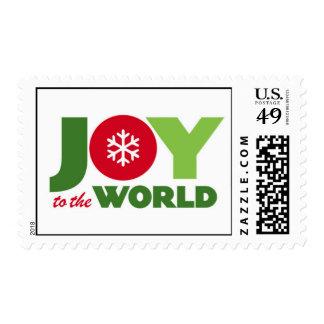 Joy (Red & Green) Holiday Christmas Postage