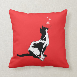 """""""Joy"""" Red Holiday Throw Pillow"""