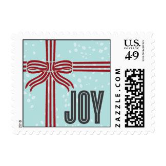 Joy Ribbon - Red & Light Blue Postage