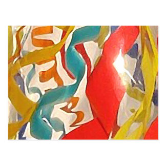 JOY Ribbons, a detail from a blown glass vessel Postcard