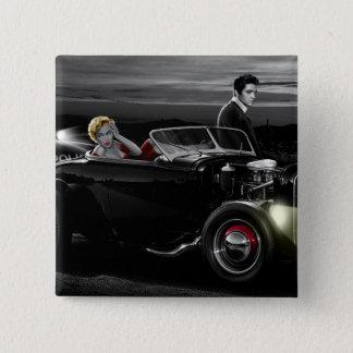 Joy Ride B&W 2 Pinback Button
