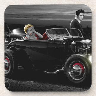 Joy Ride B&W Drink Coaster