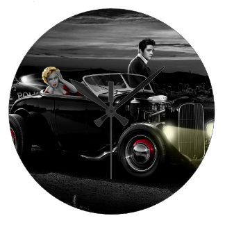 Joy Ride B&W Large Clock