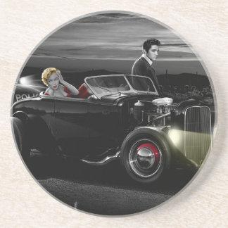 Joy Ride B&W Sandstone Coaster