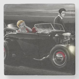 Joy Ride B&W Stone Coaster