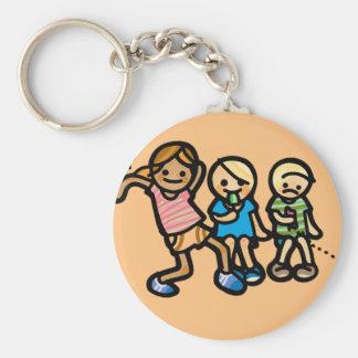 joy ride. basic round button keychain