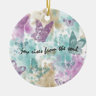 Joy Rises from the Soul Ceramic Ornament