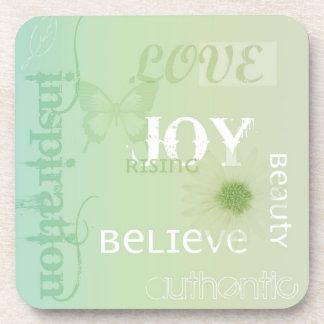 Joy Rising Earth Green Coaster Set
