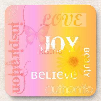 Joy Rising Pastel Coaster Set
