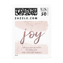 Joy | Rose Gold Christmas Postage