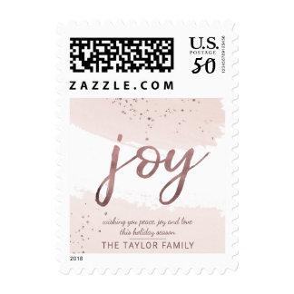 Joy | Rose Gold Christmas Postage