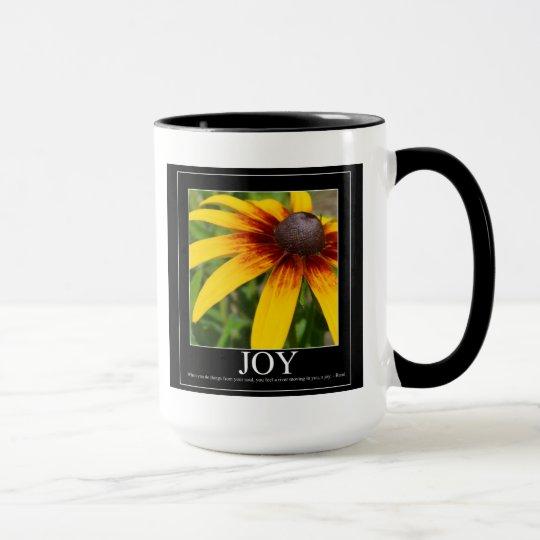 Joy Rumi Motivational Flower Mug