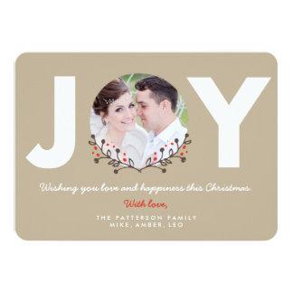 JOY Rustic   Holiday Photo Card Custom Invite