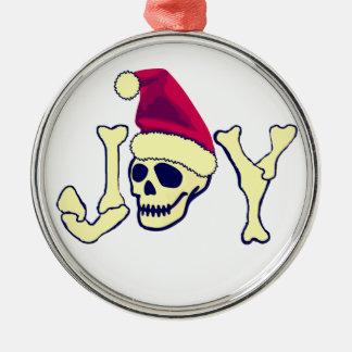 Joy - Santa SKull Christmas Tree Ornament