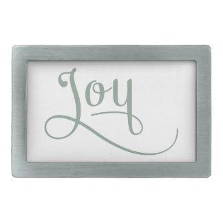 Joy Script Sage Rectangular Belt Buckle
