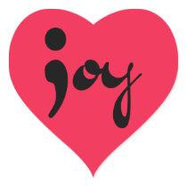Joy Semicolon Heart Stickers