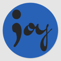 Joy Semicolon Round Stickers