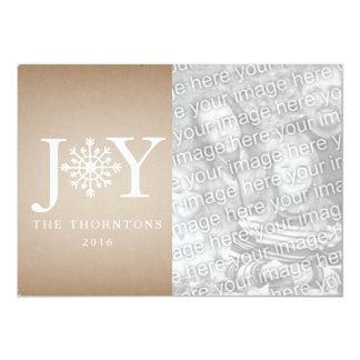JOY Snowflake Photo Christmas Card - Cardstock
