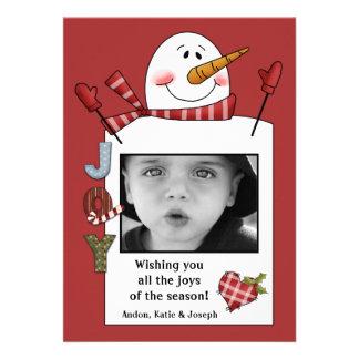 Joy Snowman Photo Card