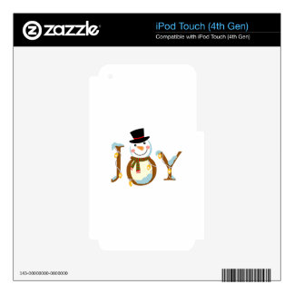 Joy Snowman Skin For iPod Touch 4G