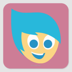 Square Sticker with Cute Cartoon Joy from Inside Out design
