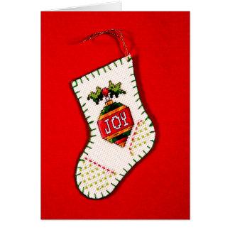 Joy Stocking Card