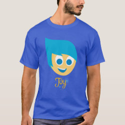 Men's Basic Dark T-Shirt with Cute Cartoon Joy from Inside Out design
