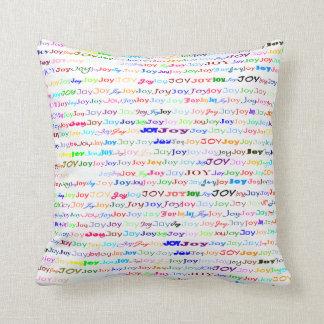 Joy Text Design II Throw Pillow