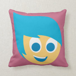 Cotton Throw Pillow with Cute Cartoon Joy from Inside Out design