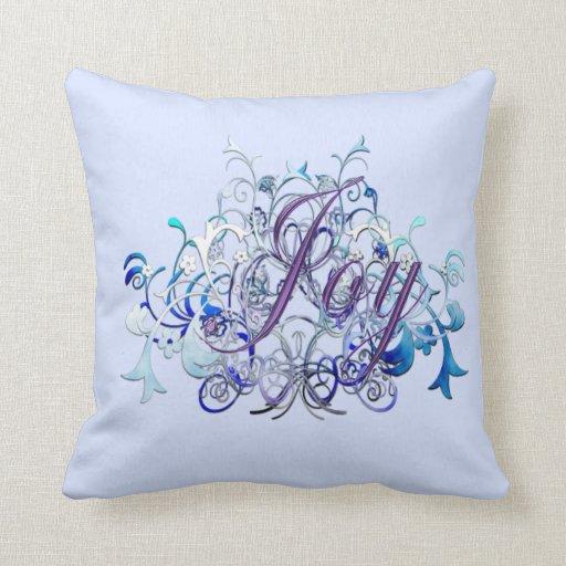 Joy Throw Pillow : Joy Throw Pillows Zazzle
