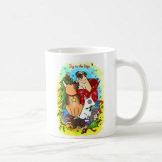Joy to the dogs coffee mug