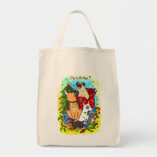 Joy to the dogs tote bag