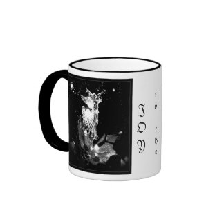 Joy to the World b&w mug