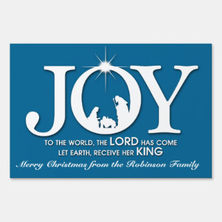 Joy to the World (blue) | Christmas Yard Sign