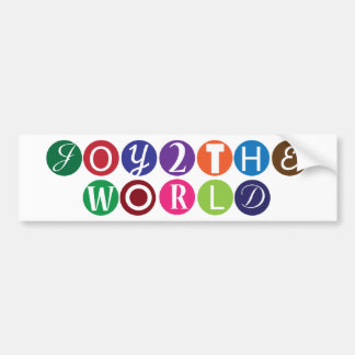 Joy To The World Bumper Sticker