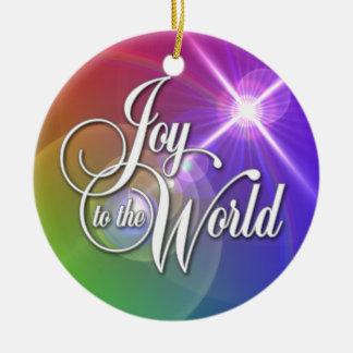 Joy to the World Ceramic Ornament