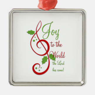 Joy to the World Christian Christmas Carol Music Metal Ornament