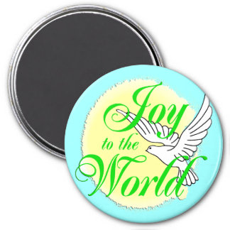 Joy to the World Christmas 3 Inch Round Magnet