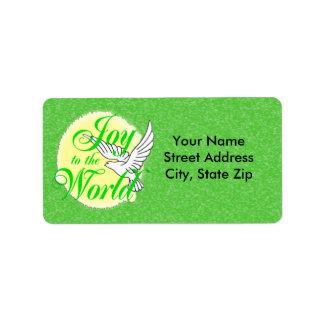 Joy to the World Christmas Address Label