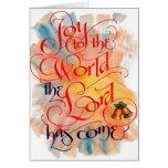 Joy to the World Christmas Card