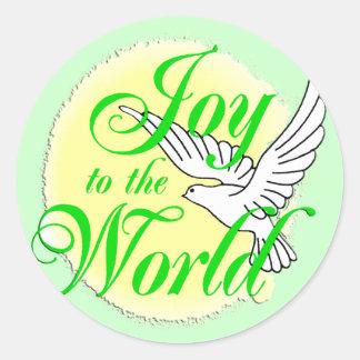 Joy to the World Christmas Classic Round Sticker