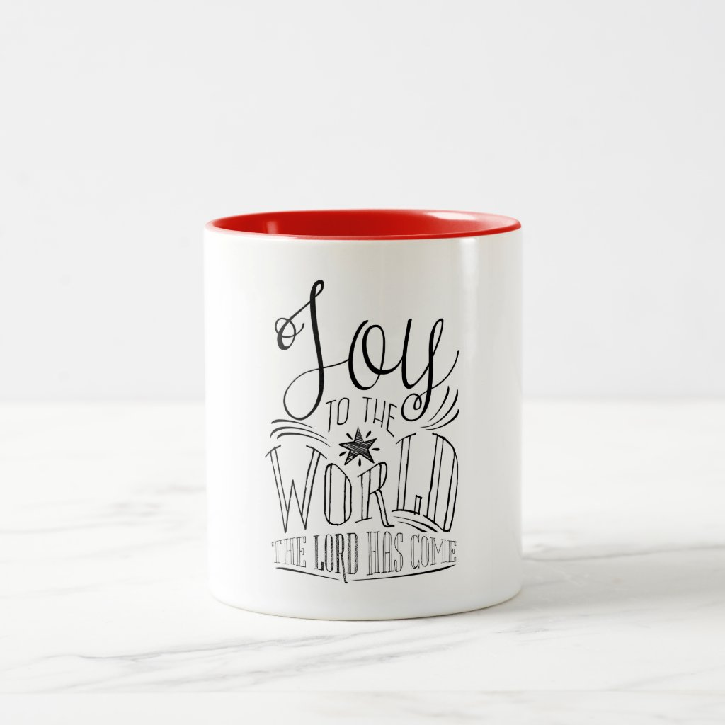 Joy to the World Christmas Coffee Mug