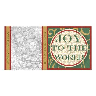 Joy to the World Christmas Family Photo Card
