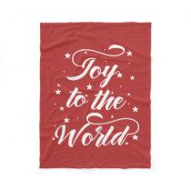 joy to the world Christmas Fleece Blanket