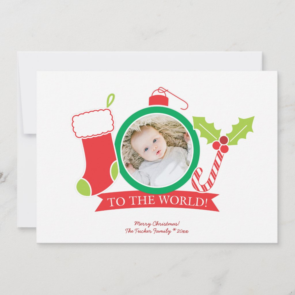 JOY to the World Christmas Photo Holiday Card