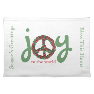 Joy to the World Christmas Placemat